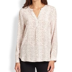 Joie Peterson Silk Blouse Pink Gold XS